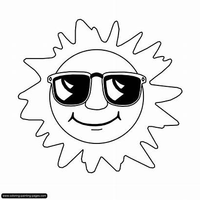 Coloring Pages Sun Various