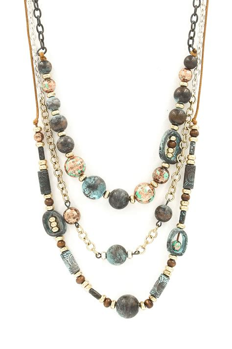 layered bead necklace set necklaces