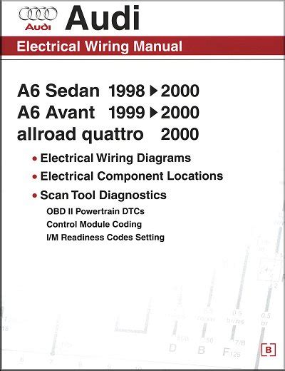 audi electrical wiring manual a6 avant allroad quattro 1998 2000