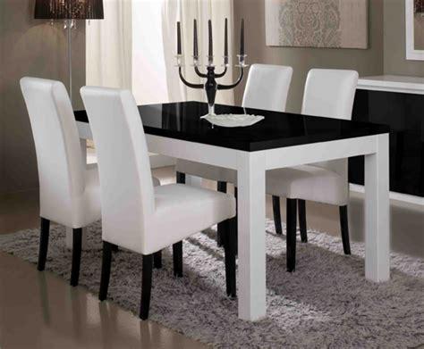chaise salle a manger noir salle a manger blanc laque belgique