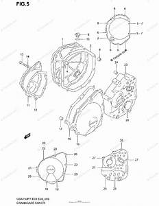 Suzuki Motorcycle 2000 Oem Parts Diagram For Crankcase Cover