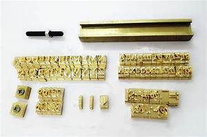 brass flexible letterscnc engraving mold hot foil With brass engraving letters