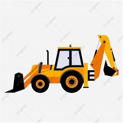 Construction Vehicles Excavator Digger Clipart Cartoon Building