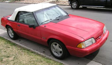 buy   ford mustang lx  red convertible