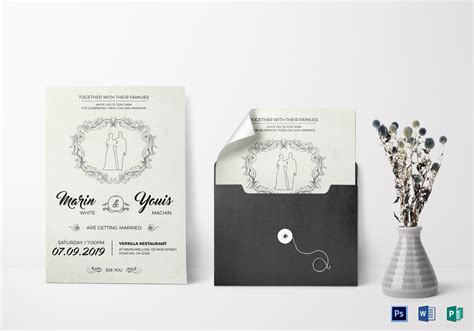 Modern Wedding Invitation Design Template in Word PSD
