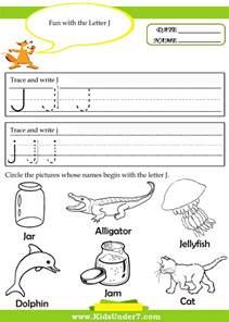 Printable Tracing Worksheets Preschool Letter J