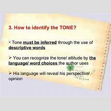 Identifying Author's Tone