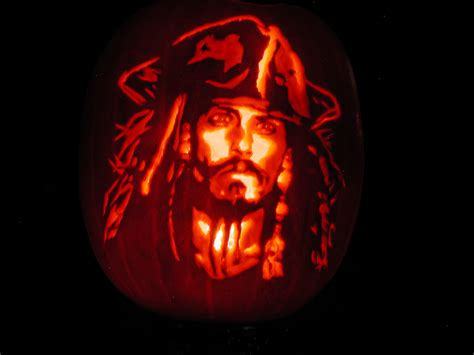 captain jack sparrow pumpkin carving art   meme
