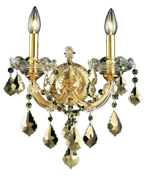 swarovski wall sconces lighting swarovski elements smoky golden teak