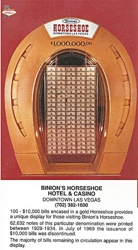 binions horseshoe  fremont las vegas nv
