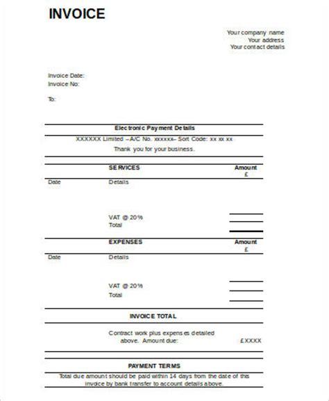business invoice sample  sample  format
