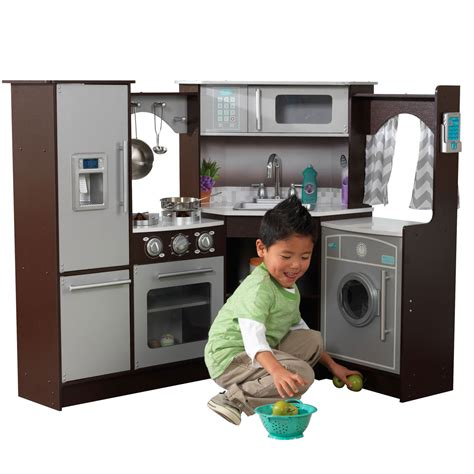 kidkraft ulitmate corner play kitchen w lights and sounds