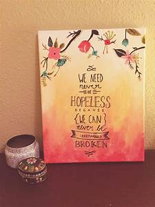 Best canvas art quotes ideas on diy