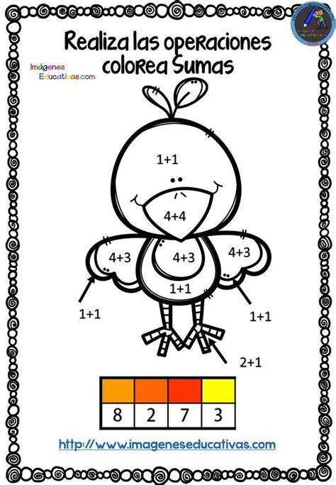 coloreamos  sumas en otono imagenes educativas