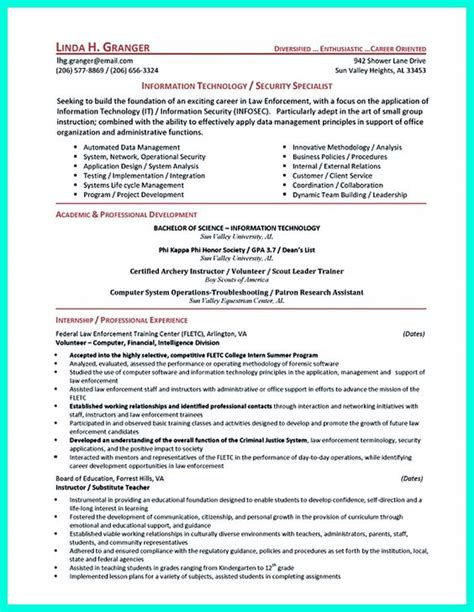 resume objectives for security 28 images exle