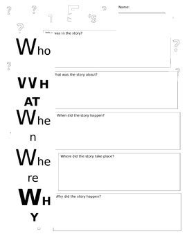 Who, What, When, Where, Why Worksheet By Jimenez 2nd Grade Tpt