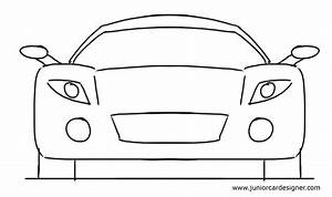 Easy Car Drawing Tutorial For Kids: Sports Car Front View ...