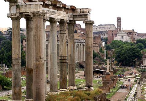 Rom, Forum Romanum, Saturn-Tempel (Roman Forum)   Das ...
