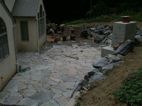 flagstone construction keenan construction excavation flagstone patio