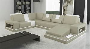 canape d39angle en cuir italien 6 7 places sublimo gris With canape angle cuir gris clair