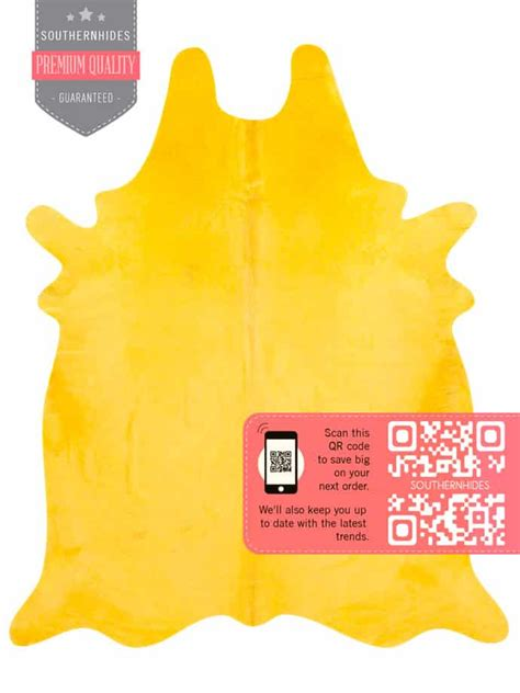 Yellow Cowhide Rug by Yellow Cowhide Rug A Splash Of Color And Brightness