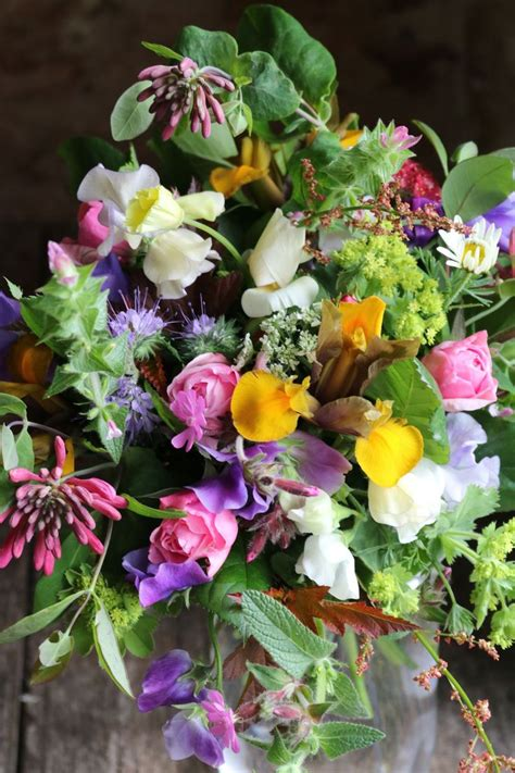 All British Flowers Brides Bouquet For A Late May Wedding