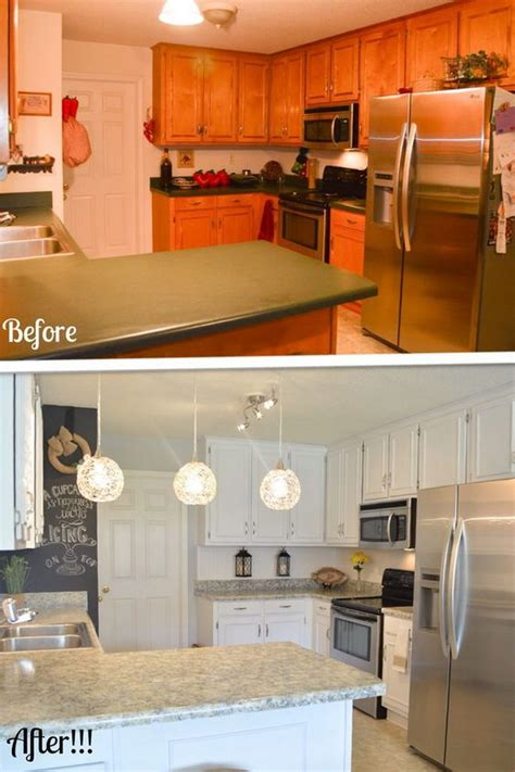 kitchen makeovers on a budget before and after pretty before and after kitchen makeovers Kitchen Makeovers On A Budget Before And After