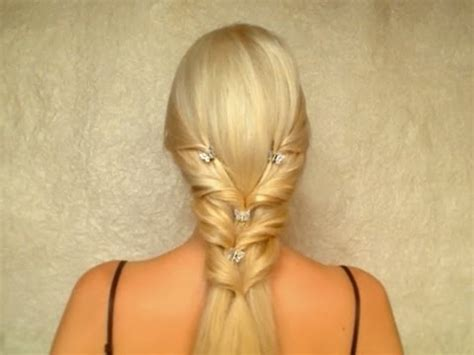 valentine s day prom wedding hairstyle for long straight
