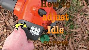 How To Adjust Your Idle Screw On Your Husqvarna 128ld