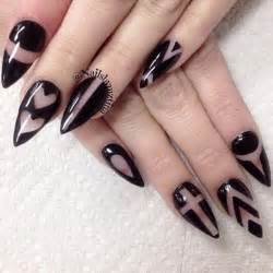 Black nail art ideas and design