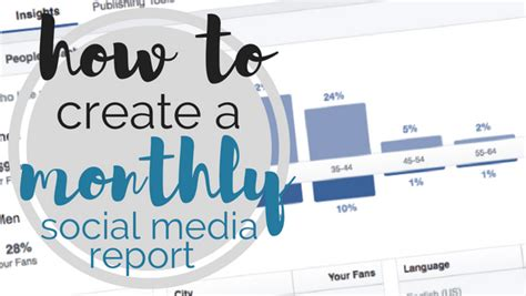 template   create  monthly social media report