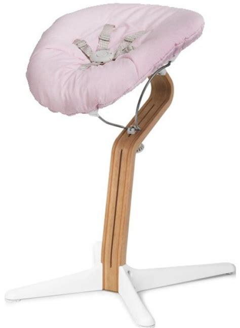 Hochstuhl Nomi Baby Aufsatz Set Black  Pale Pink Kleine