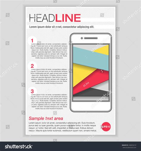 Brochure Vector Mock Up Template Millions Vectors Creative Brochure Template Design With Smartphone For Mock