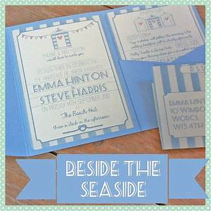 pocketfold beach hut wedding invitation by lovely jubbly With wedding invitations beach hut