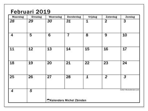 kalenders februari  mz michel zbinden nl
