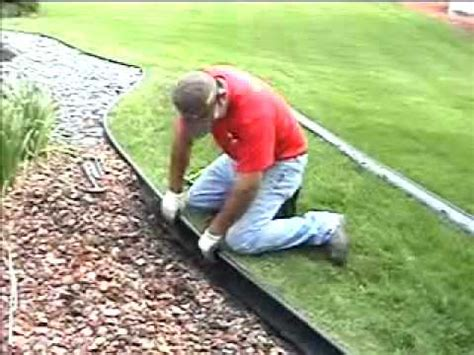 how to install lawn valley view lawn edging installation guide youtube
