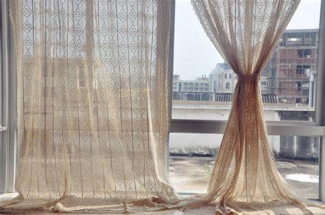 country style cotton linen beige crochet lace