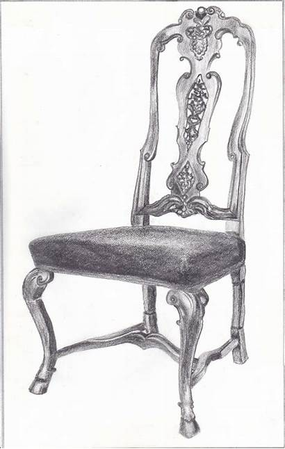 Chair Drawing Furniture Pencil Interior Baroque 18th