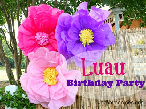hawaiian luau party decorations uncommon designs