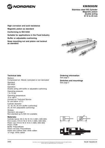 XSz 8 XSz50 - Norgren - PDF Catalogs | Technical