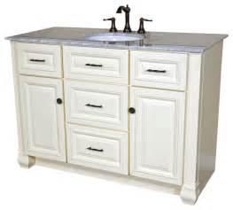 50 inch single sink vanity heirloom white traditional bathroom vanity units sink cabinets