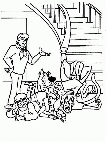 Scooby Doo Coloring Pages Animated Card
