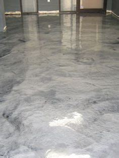 Metallic silver concrete floor at Boulder, Colorado tech