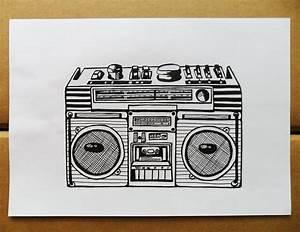 Simple Boombox Tattoos | www.imgkid.com - The Image Kid ...
