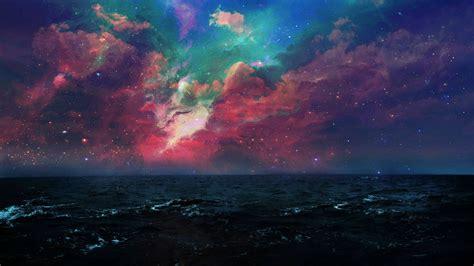 space sea night wallpapers hd desktop  mobile