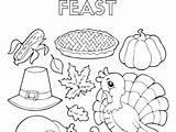 Dinner Coloring Thanksgiving Getdrawings Feast Printable Getcolorings sketch template
