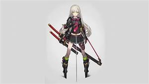 16, Sword, White, Hair, Anime, Girl, Wallpaper