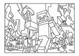 Minecraft Pages Coloring Colouring Printable Throw sketch template