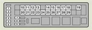 Lexus Is200d  2011 - 2013  - Fuse Box Diagram