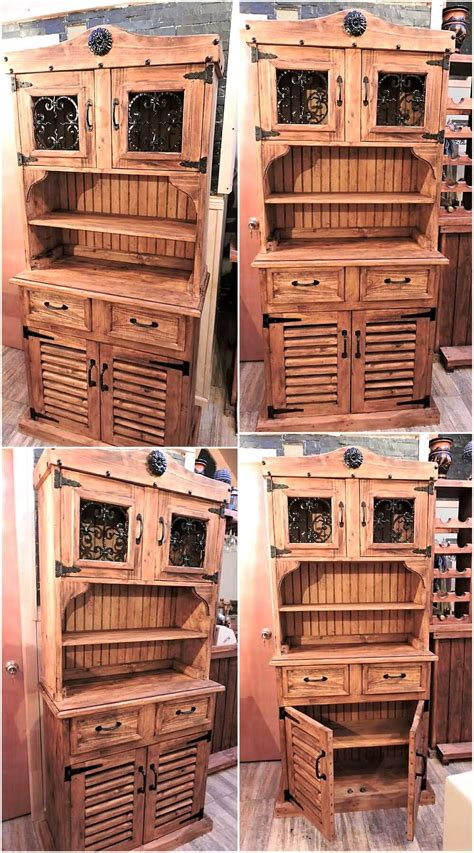 pallet wood furniture recycled wooden pallets rustic cupboard wood pallet Reclaimed